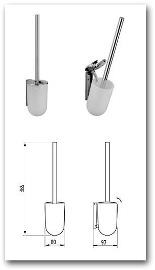 WC-Bürste klappbar