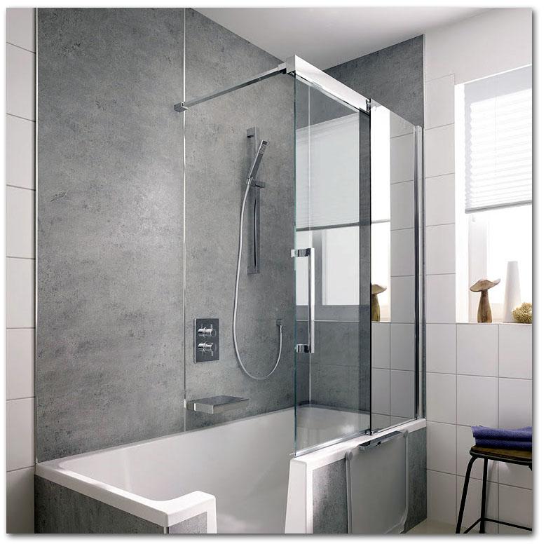 Badewanne mit Tür (Seiteneinstieg)