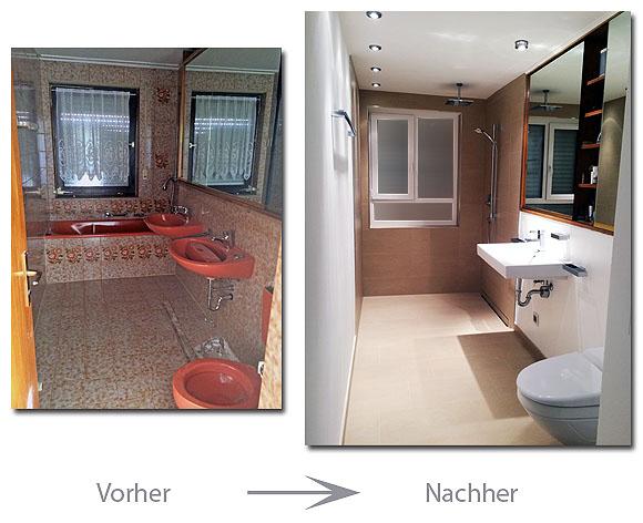 Badsanierung im modernen Design mit bodenebener Dusche