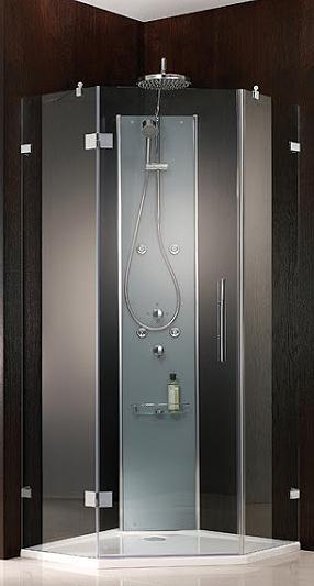 5-Eck-Duschwand