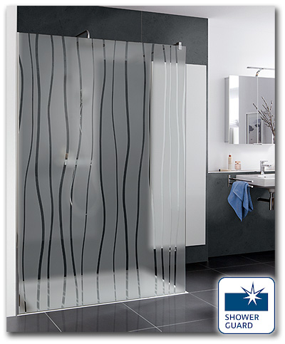 Duschwand Walk In mit Shower Guard Glas