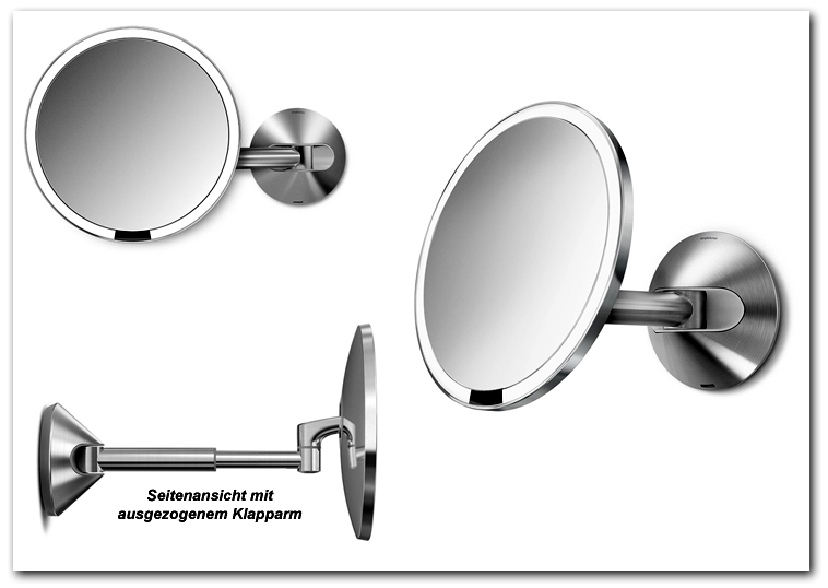 Kosmetikspiegel Schminkspiegel wiederaufladbar mit Akku Art.Nr.: HS 5840