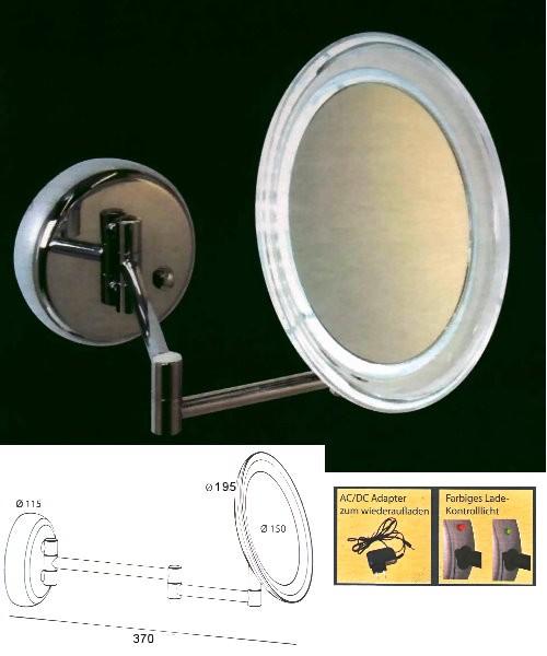 Kosmetikspiegel mit Akku und LED-Beleuchtung, Art.Nr.: 361041