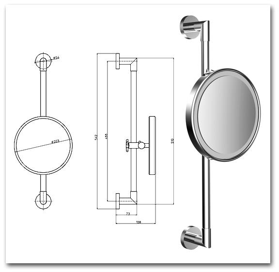 Kosmetikspiegel mit LED-Beleuchtung Art.Nr.: 3565 8100 C0
