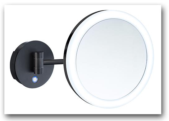 Kosmetikspiegel mit Batteriebetrieb in der Farbe schwarz mit Batteriebetrieb Art.Nr.: 222285